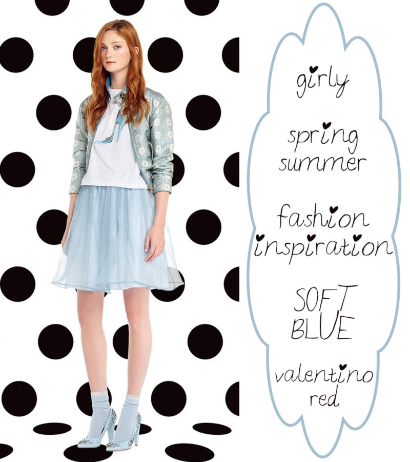 girly fashion inspiration Spring Summer soft blue