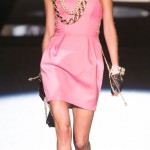 girly pink dress DSquared2 Spring 2013