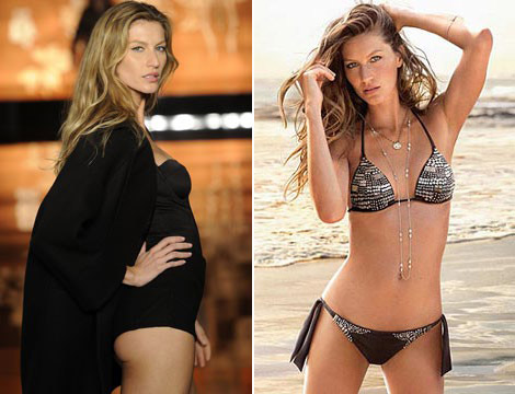Gisele Bundchen against sunscreen