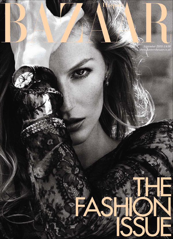 Gisele Bundchen Harpers Bazaar UK September 2010 2