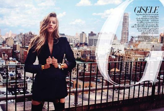 Gisele Bundchen Harpers Bazaar UK September 2010 3