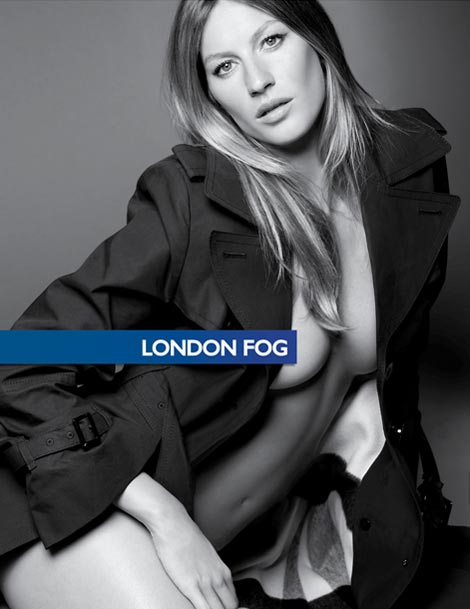 Gisele Bundchen London Fog ad campaign Fall 09