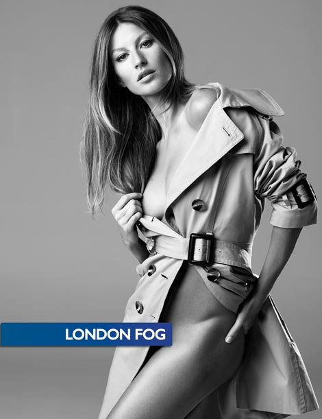 Gisele Bundchen London Fog ad Fall 2009