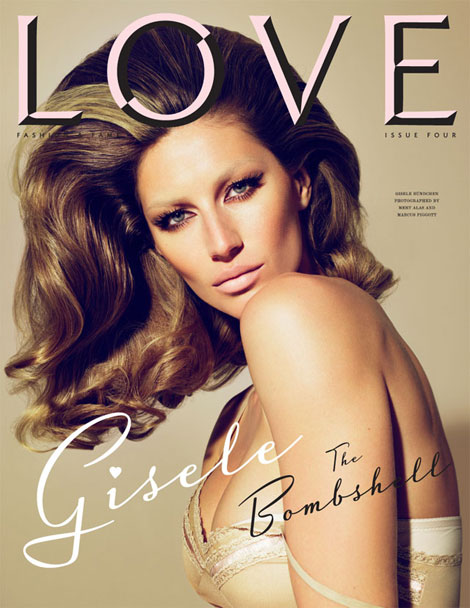Gisele Bundchen Love four cover