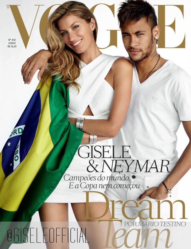 Gisele Bundchen Neymar Vogue Brazil June 2014 cover