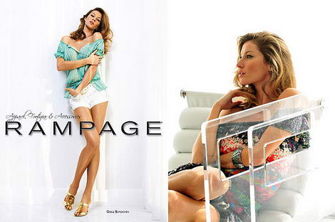 Gisele Bundchen&#8217;s Rampage Spring Summer 2009 Ad Campaign