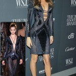 Gisele Bundchen Versace custom made dress WSJ event