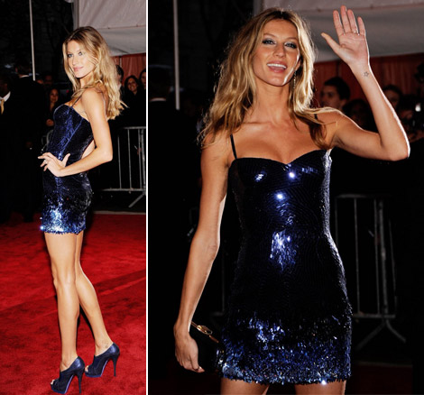 Gisele Bundchen Versace Dress Met Gala 2009