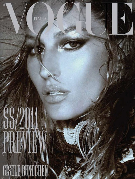 Gisele Bundchen Vogue Italy December 2010 cover