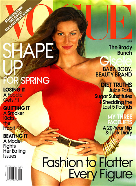 Gisele Bundchen Vogue US April 2010 cover