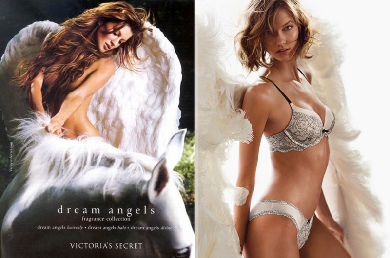 Gisele Bundchen vs Karlie Kloss Victoria s  Secret Heavenly perfume