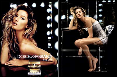 Gisele Bundchen The One D & G Perfume AD