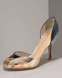 Giuseppe Zanotti Metallic Open-Toe d'Orsay Shoes