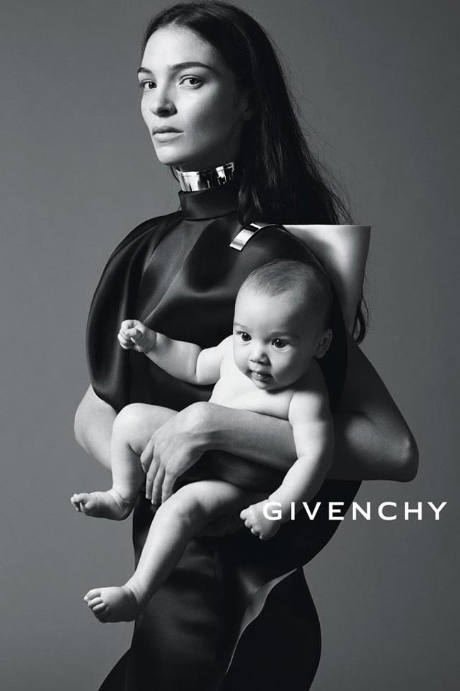 Givenchy Spring 2013 campaign Mariacarla Boscono with daughter