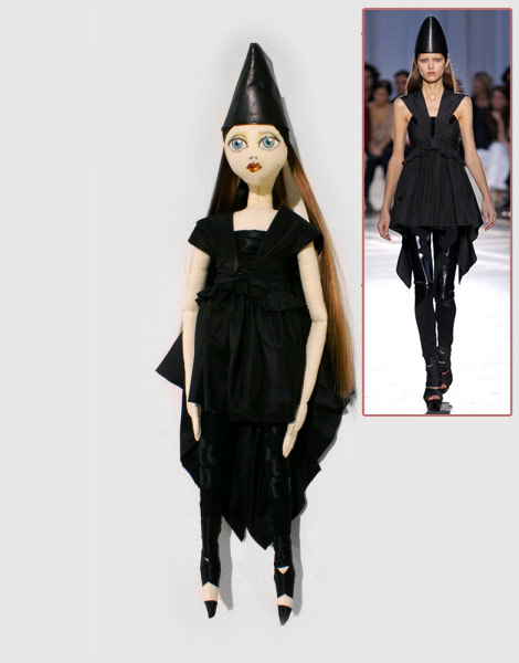 Givenchy doll catwalk