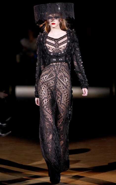 Ciara's Black Givenchy Lace Dress For 2010 Grammys