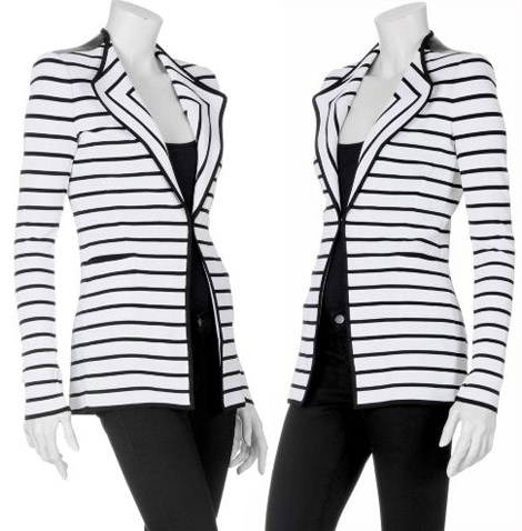 Givenchy Striped black white blazer