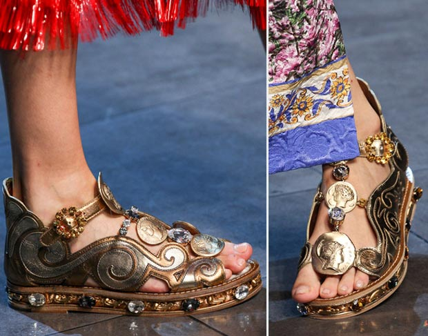 Greece Inspired Spring Shoes From Dolce&Gabbana SS14