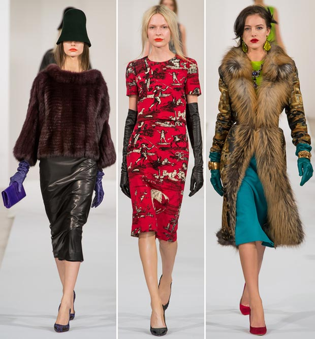 gloves for fall Oscar de la Renta collection