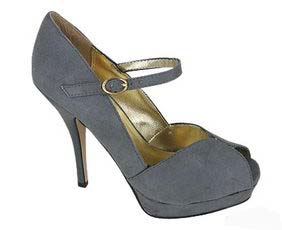 Go Jane Peep Toe strap shoe grey