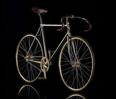 Gold bike Swarovski Crystal edition