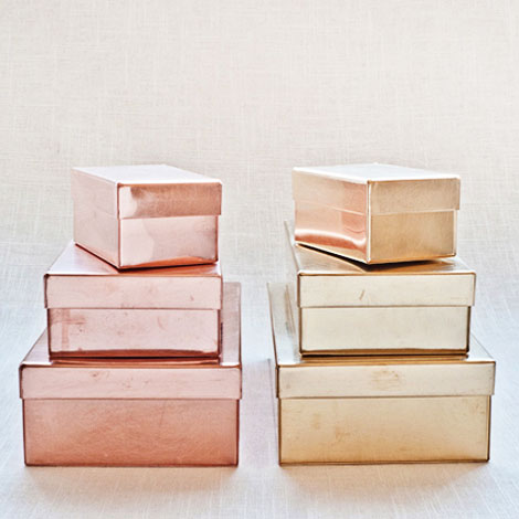 golden and copper for your home beautiful storage