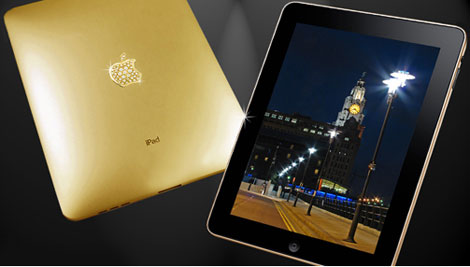 Luxurious Gadget Apple iPad With Solid Gold Case