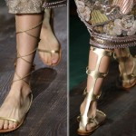 golden gladiator sandals Valentino Couture Fall 2014