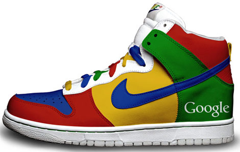 Google hand painted sneakers