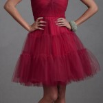 gorgeous strapless tulle party dress