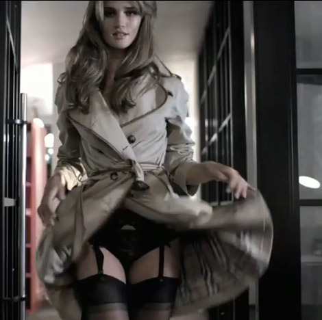 gorgeous underwear under burberry trench coat