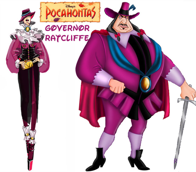 Governor Ratcliffe fashion update Disney Villains Pocahontas
