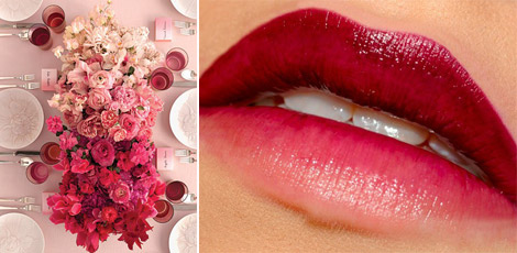 gradient ombre flower arrangements ombre lips
