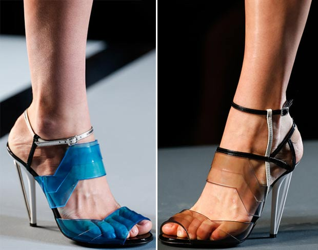 gradient plastic sandals Fendi Spring 2014