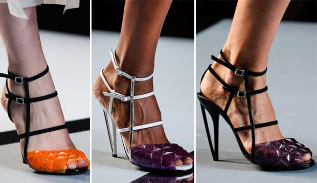 gradient strapped plastic sandals Fendi SS14