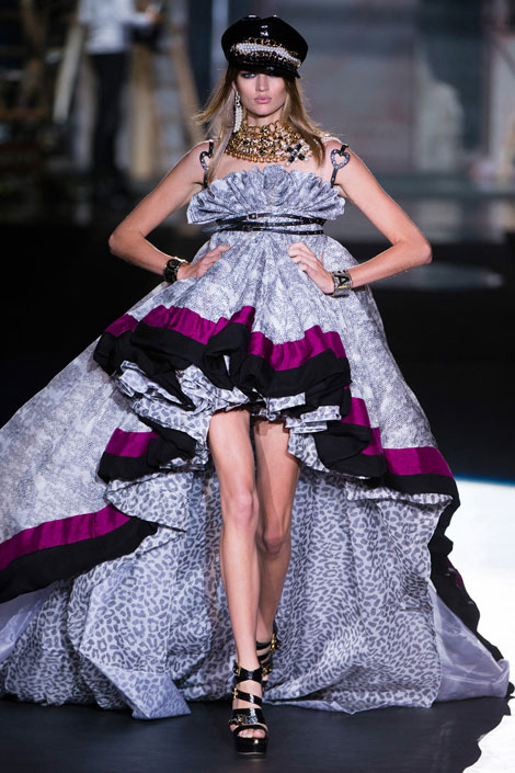 grand finale dress DSquared2 Summer 2013
