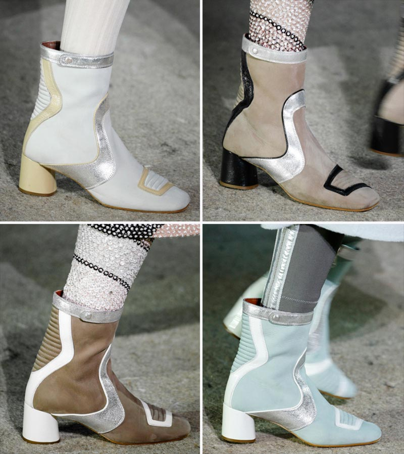 graphic retro booties Fall 2014 Marc Jacobs