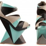 Graphic towering sandals Finsk