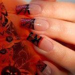 great Halloween nails spider tips
