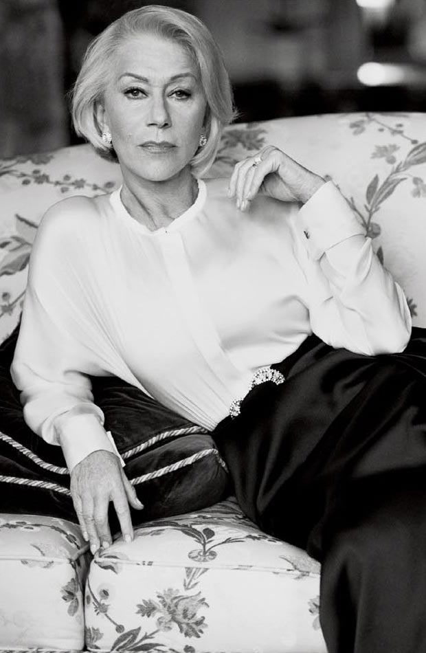 Great Dame Helen Mirren In Vogue US March 2013