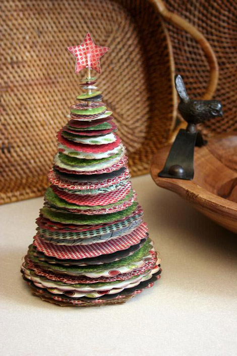 great fabric Christmas tree