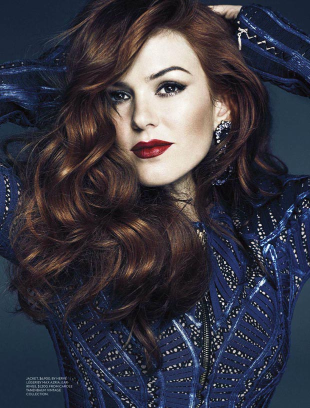 Great Gatsby s Isla Fisher Fashion magazine pictorial