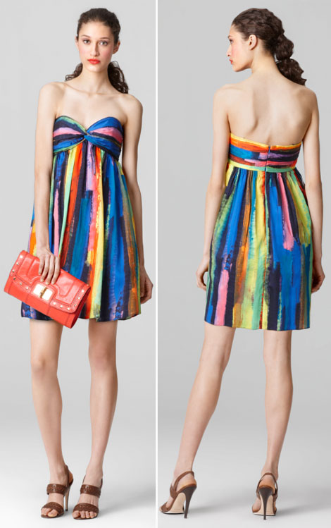 great party dress multi colored striped dress