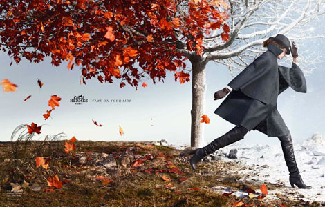 great seasonal advertising Hermes Fall 2012 ad campaign Bette Franke's Hermes Fall 2012 Ad Campaign Is All Kinds Of Stunning