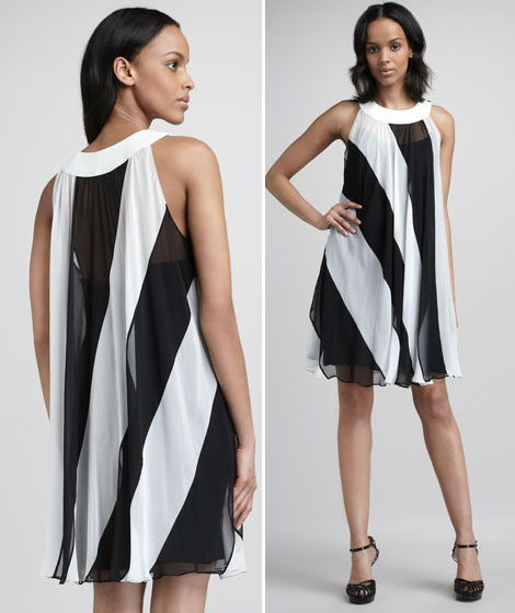 great striped dress for party