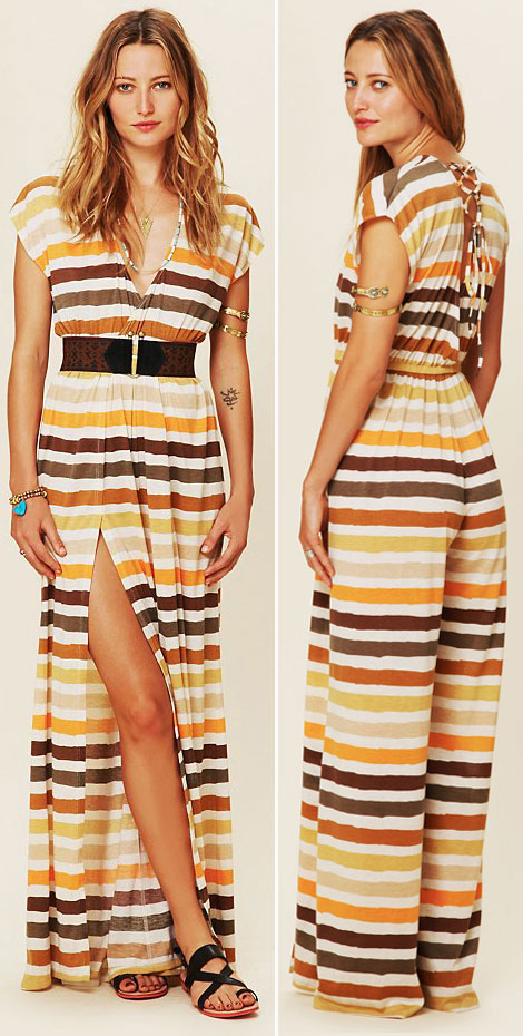 great striped romper Free People