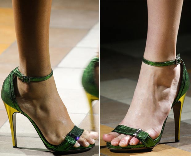 green sandals Spring Summer 2014 Lanvin