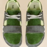 green suede sneakers