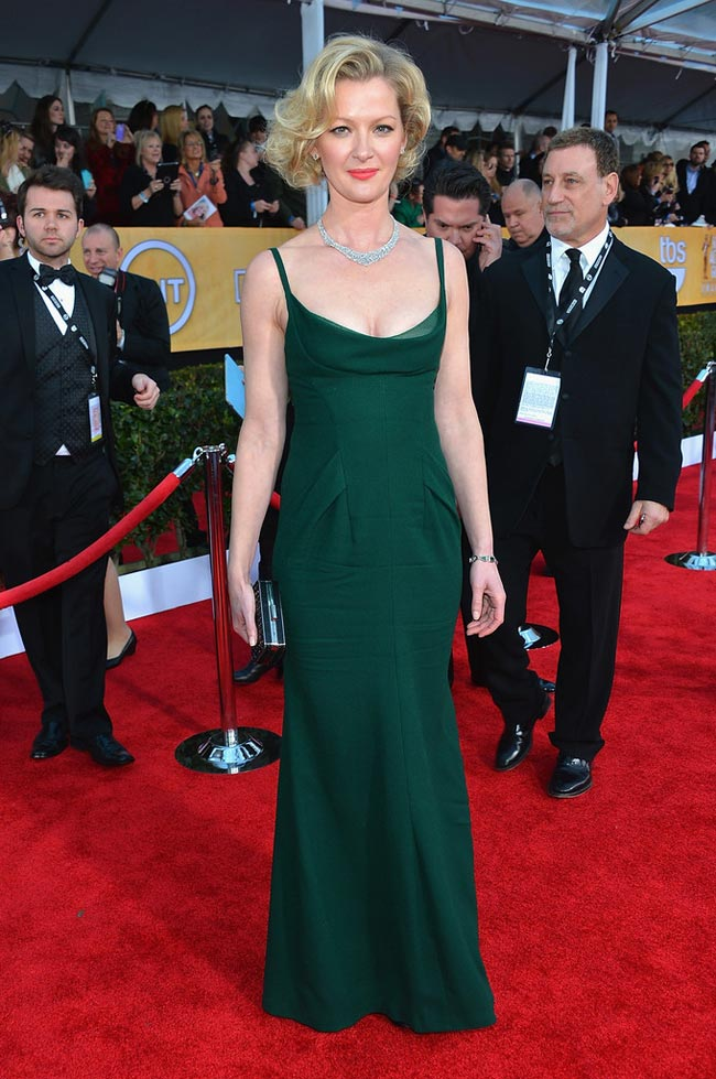 Gretchen Mol green dress 2013 SAG Awards