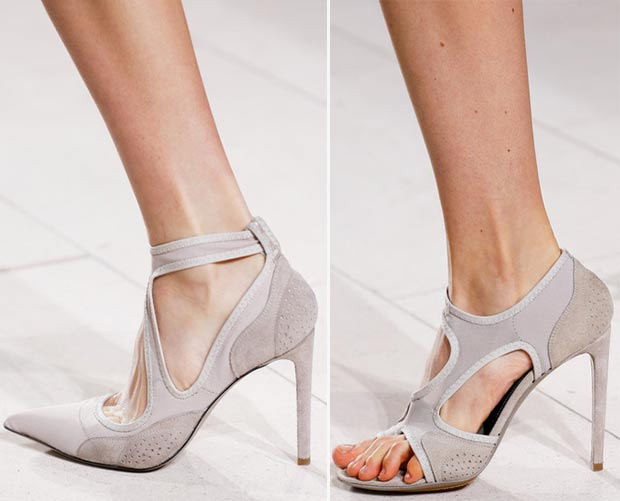 grey stiletto sandals Balenciaga SS14